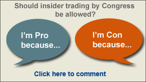 Share your thoughts on insider trading by congress and read, vote on, and reply to existing comments. Join the debate.
