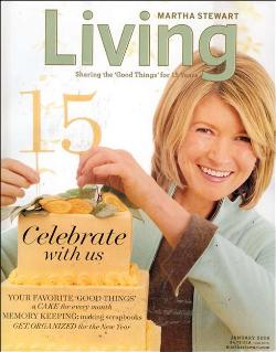 Martha Stewart on the cover of the Jan. 2006 issue of Martha Stewart Living magazine.